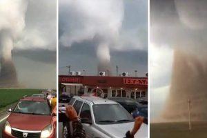 Tornado Na Roménia Vira Autocarro e Faz 12 Feridos, Um Em Estado Grave 9