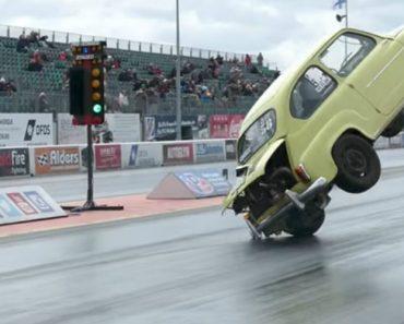 Isto é o Que Acontece Quando Se Coloca Um Motor Demasiado Potente Num Fiat 600 8