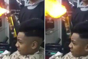 Barbeiro Incendeia Cabeça De Cliente Ao Tentar Fazer Corte De Cabelo Com Fogo 8
