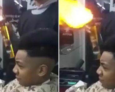 Barbeiro Incendeia Cabeça De Cliente Ao Tentar Fazer Corte De Cabelo Com Fogo 1