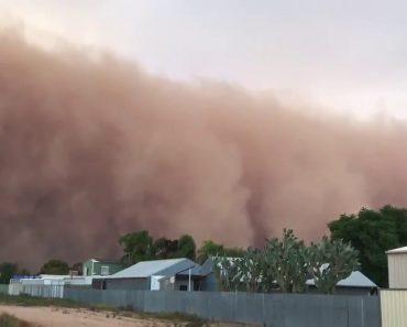 Vídeo Mostra Enorme Tempestade De Areia a Cobrir Cidade Australiana 1