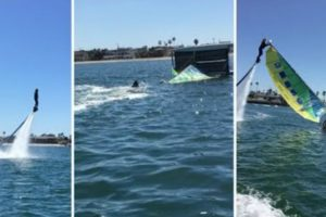 Praticante De Jetboarder Dá Uma Boa Ajuda a Catamaran Que Colapsou 9