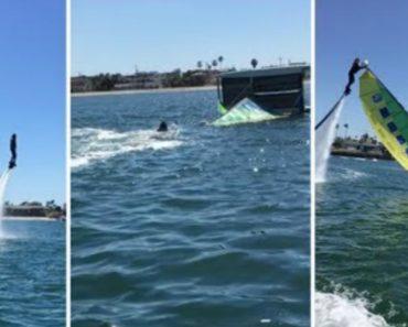 Praticante De Jetboarder Dá Uma Boa Ajuda a Catamaran Que Colapsou 5