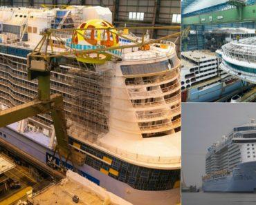 A Construção Do Spectrum Of The Seas… Um Navio De 340 Metros Para 4246 Passageiros e 1551 Tripulantes 7