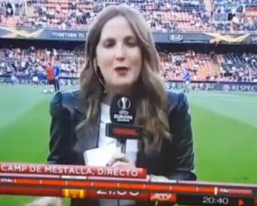 Dói Só De Ver: Jornalista Atingida Por Bolada Na Cabeça Antes Do Valencia-Arsenal 5