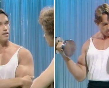 Um Jovem Chamado Arnold Schwarzenegger a Ensinar Como Se Criam Músculos 3