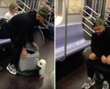 Passageiro De Metro Afasta Todos Os Outros Passageiros Ao Usar o Seu Próprio WC Portátil 6