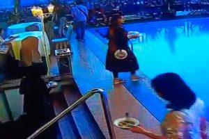Mulher Ficou Tão Focada Em Encontrar Mesa No Terraço Do Hotel Que Acabou Por Cair Na Piscina 10
