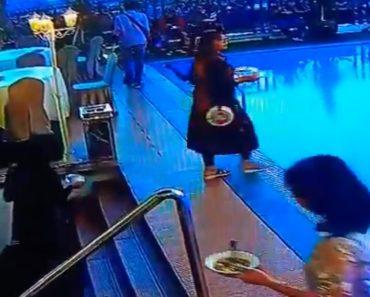 Mulher Ficou Tão Focada Em Encontrar Mesa No Terraço Do Hotel Que Acabou Por Cair Na Piscina 8