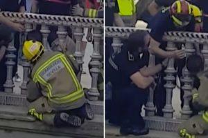 Bombeiros Resgatam Criança Com Cabeça Presa Entre Pilares Em Sevilha 10