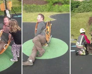 Pai Curioso Fica Preso Em Parque Infantil Até à Chegada Dos Bombeiros 3