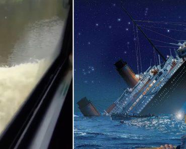 Motorista Escolhe Música Do Titanic Enquanto Conduz Em Estrada Inundada 8