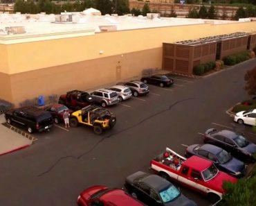 Nunca é Boa Ideia Roubar o Lugar De Estacionamento a Um Jipe! 3