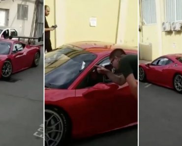 Condutor De Ferrari Falha Redondamente o Momento De Sair Do Carro 4