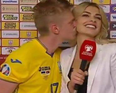 Jogador Do Manchester City Não Resistiu e Beijou Jornalista Em Direto 7