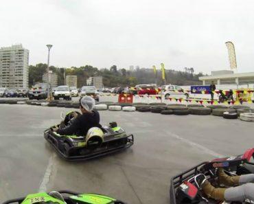 Tentou Tirar Selfie Dentro De Kart e Até o Capacete Perdeu 9