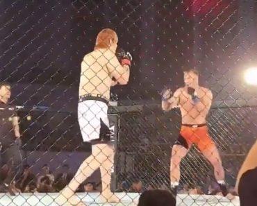"""O """"Assalto"""" De MMA Que Fica Para a História: Gigante De 2,20m Vai Ao Chão 8"""