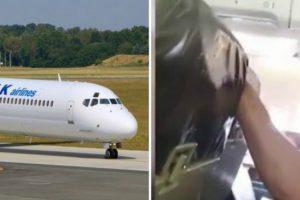 Forte Turbulência Deixa Passageiros Em Pânico enquanto Hospedeira Bate Com a Cabeça No Teto Do Avião 11