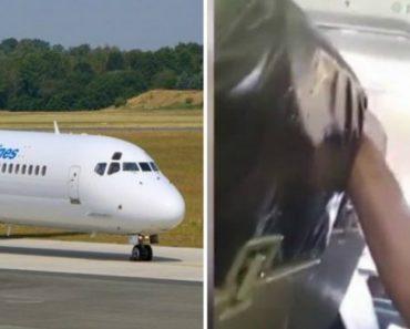 Forte Turbulência Deixa Passageiros Em Pânico enquanto Hospedeira Bate Com a Cabeça No Teto Do Avião 8