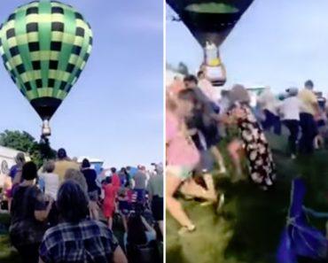 Pessoas São Atingidas Por Balão De Ar Quente Após Demorarem a Reagir Quando o Viram a Aproximar-se Demasiado Delas 2