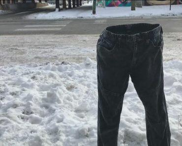 Calças Congeladas